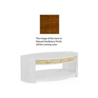 Jonathan Charles Ivory Shagreen Oval Coffee Table