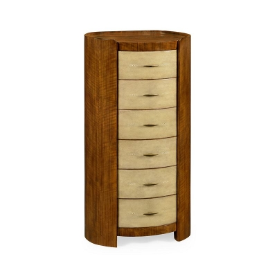 Jonathan Charles Tall Oval Chest with Brass Detailing