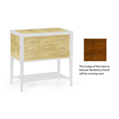 Jonathan Charles Ivory Shagreen Chest of Drawers with Brass