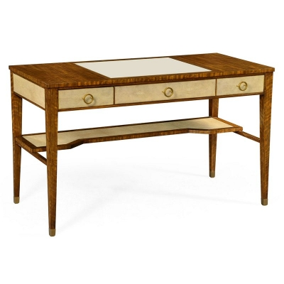 Jonathan Charles Narrow Desk with Brass Detailing