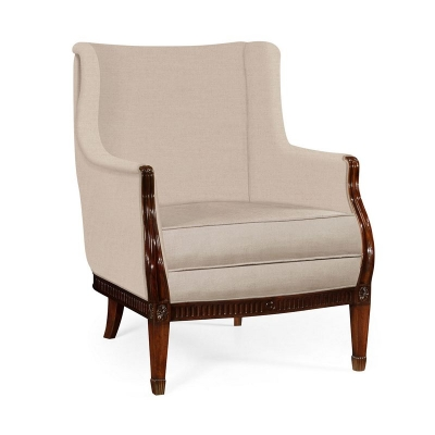 Jonathan Charles Winged Occasional Chair Upholstered In Mazo