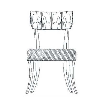 Jonathan Charles Art Deco Upholstered Side Chair
