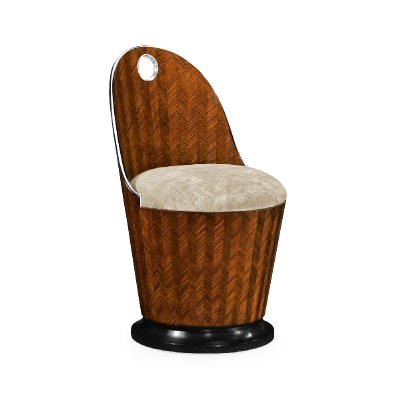 Jonathan Charles Feather Inlay Dressing Chair