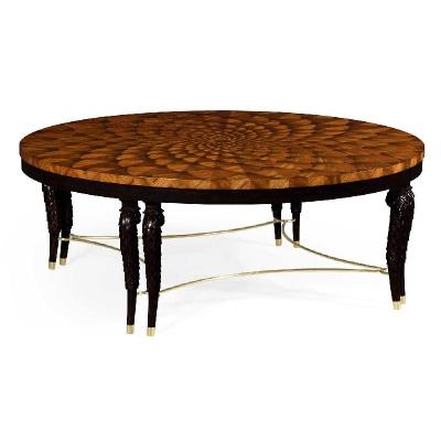 Jonathan Charles Feather Inlay Coffee Table