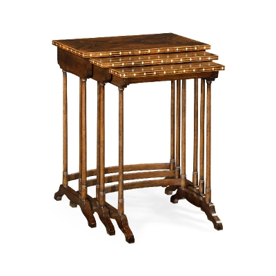 Jonathan Charles 3 Nesting Tables with Faux Bone Inlay