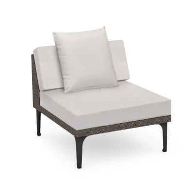 Jonathan Charles 32 inch Dark Grey Rattan One-Seat Centre Sofa Sectional