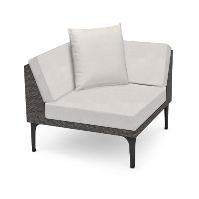 Jonathan Charles 36 inch Dark Grey Rattan Corner Sofa Sectional