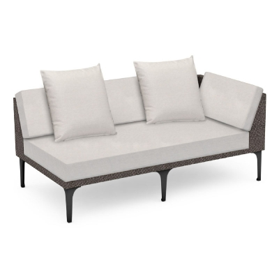 Jonathan Charles 67 inch Dark Grey Rattan Left Two-Seat Sofa Sectional