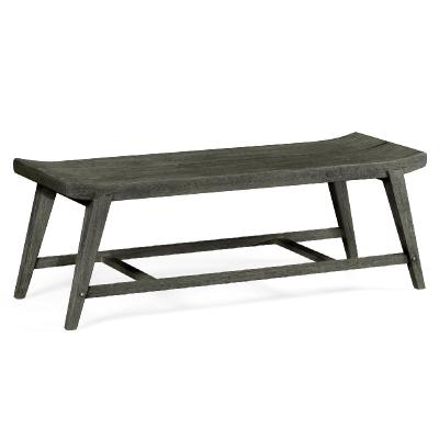 Jonathan Charles Rectangular Grey Bench