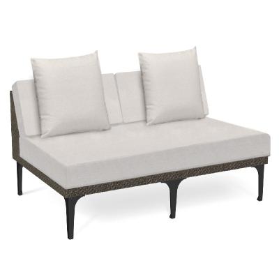 Jonathan Charles 55 inch Dark Grey Rattan Two-Seat Centre Sofa Sectional