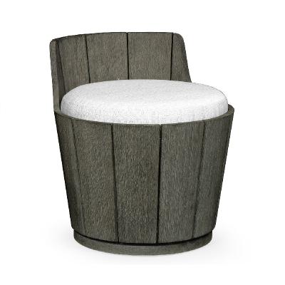 Jonathan Charles Swivel Grey Storage Bucket Stool