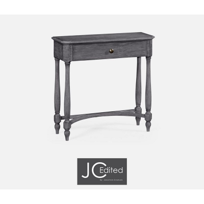 Jonathan Charles Antique Dark Grey Small Console Table with Drawer