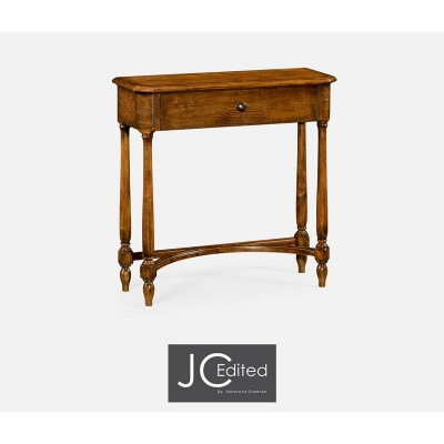 Jonathan Charles Country Walnut Small Console Table with Drawer