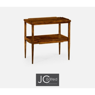 Jonathan Charles Walnut Country Style Side Table