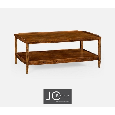 Jonathan Charles Walnut Country Style Coffee Table