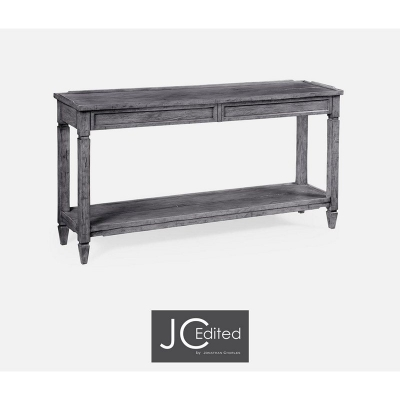Jonathan Charles Console Table with Drawers in Antique Dark Grey