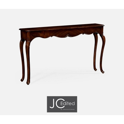 Jonathan Charles Console Table in Antique Mahogany