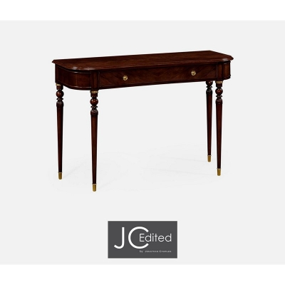 Jonathan Charles Console Table of Drawer in Antique Mahogany