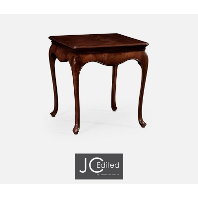Jonathan Charles Square Side Table in Antique Mahogany