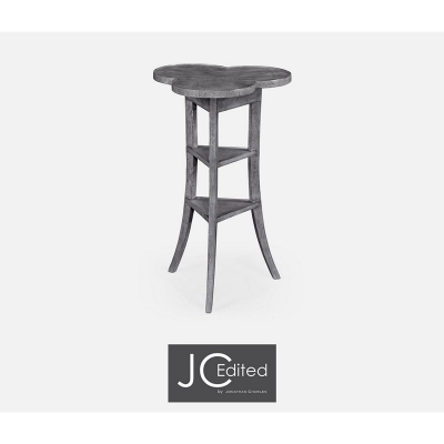 Jonathan Charles Trefoil Side Table with Dark Grey