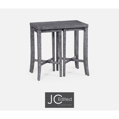 Jonathan Charles Nesting Cocktail Tables in Antique Dark Grey
