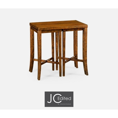 Jonathan Charles Nesting Cocktail Tables in Country Walnut