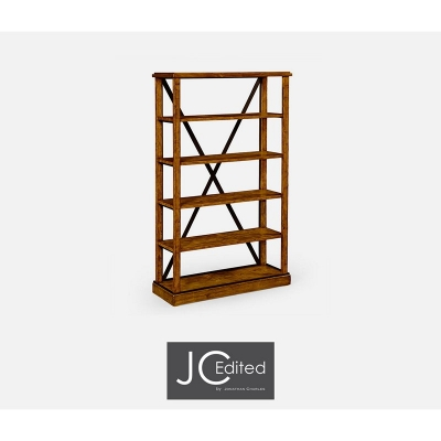Jonathan Charles Country Walnut Style Walnut etagère Or Bookcase
