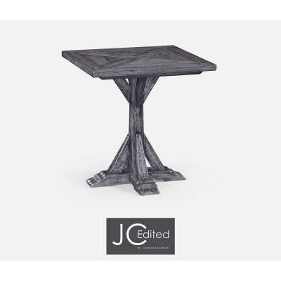 Jonathan Charles Antique Dark Grey Style Walnut Square Side Table