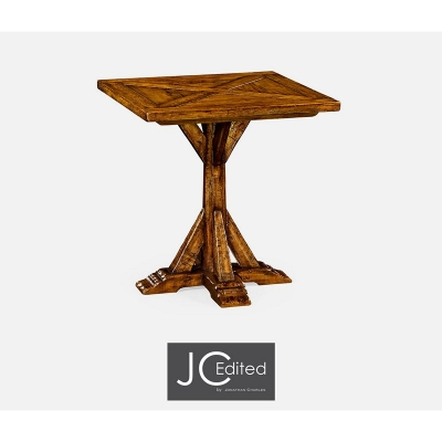 Jonathan Charles Country Walnut Style Walnut Square Side Table