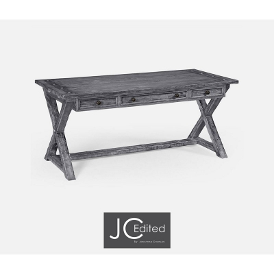 Jonathan Charles Antique Dark Grey Style Walnut Desk