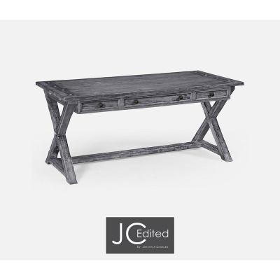 Jonathan Charles Antique Dark Grey Style Walnut Desk