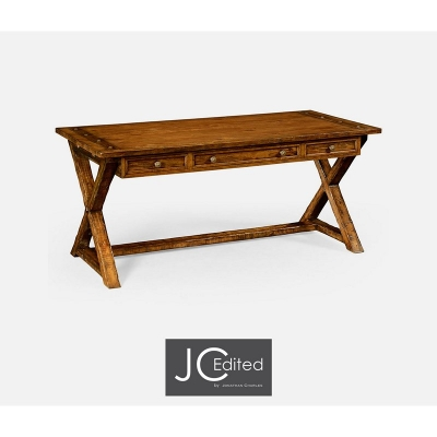 Jonathan Charles Country Walnut Style Walnut Desk