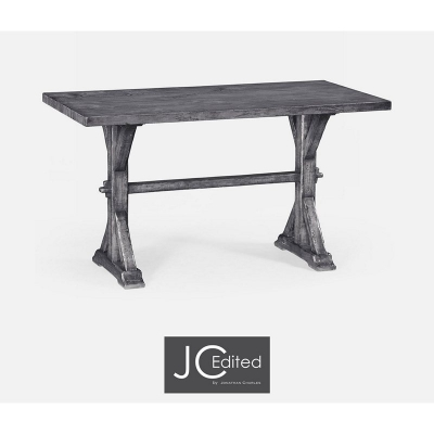 Jonathan Charles Small Solid Antique Dark Grey Topped Dining Table