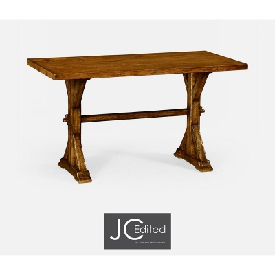 Jonathan Charles Small Solid Country Walnut Topped Dining Table
