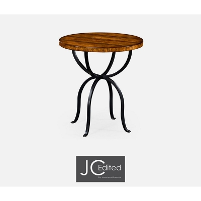 Jonathan Charles Country Walnut Round Side Table