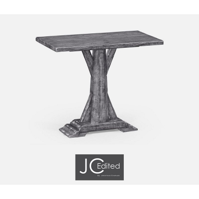 Jonathan Charles Antique Dark Grey Rectangular Side Table