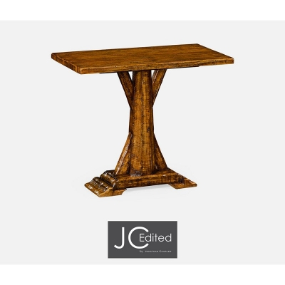 Jonathan Charles Country Walnut Rectangular Side Table