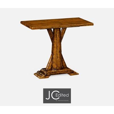 Jonathan Charles Country Walnut Rectangular Side Table