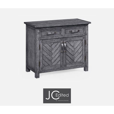 Jonathan Charles Plank Antique Dark Grey Cabinet Or Dresser Base with Strap Handles