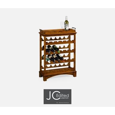 Jonathan Charles Four Tier Wine Shelf in Country Walnut