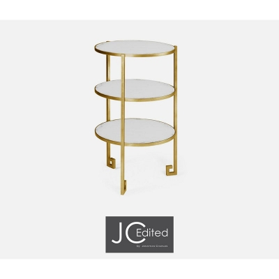 Jonathan Charles Gilded Iron End Table
