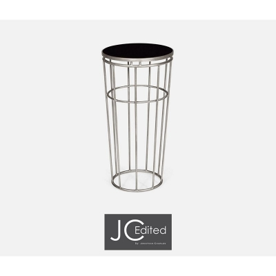 Jonathan Charles Silver Iron Round End Table