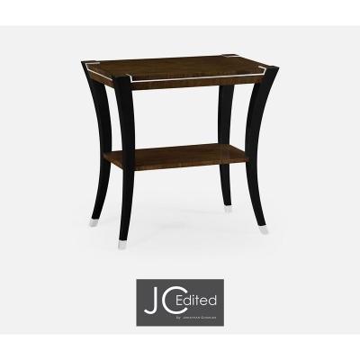 Jonathan Charles Rectangular End Table in American Walnut