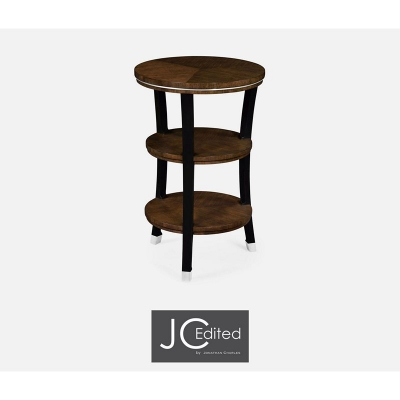 Jonathan Charles Round Side Table in American Walnut