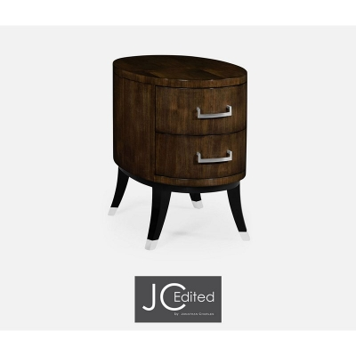 Jonathan Charles Oval Chest of Drawers in American Walnut