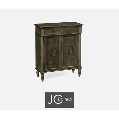 Jonathan Charles Narrow Cabinet with Cupboard