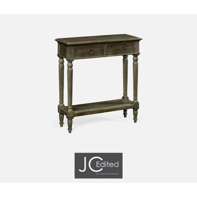 Jonathan Charles Small Narrow Chestnut Console
