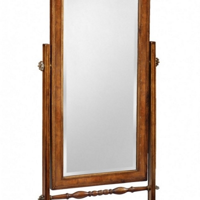 Jonathan Charles Satinwood Cheval Mirror