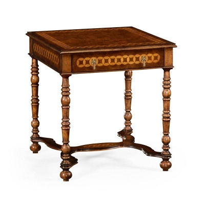 Jonathan Charles Rope Twist Square Side Table
