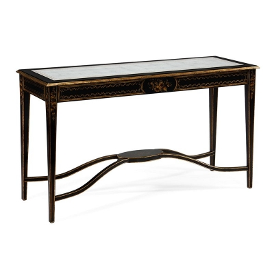 Jonathan Charles Black and eglomise Console